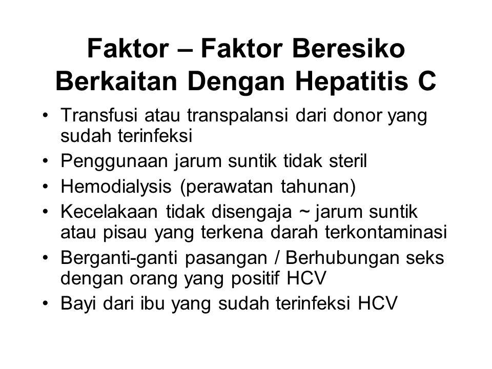 Faktor – Faktor Beresiko Berkaitan Dengan Hepatitis C