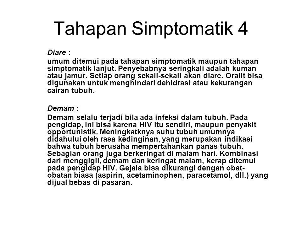 Tahapan Simptomatik 4 Diare :