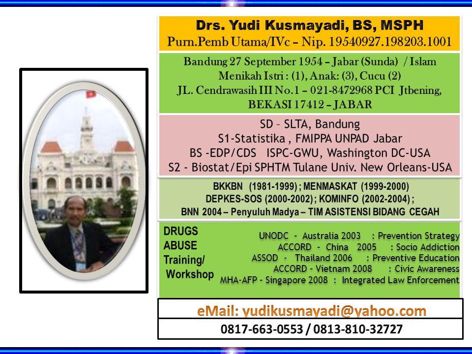 Drs. Yudi Kusmayadi, BS, MSPH