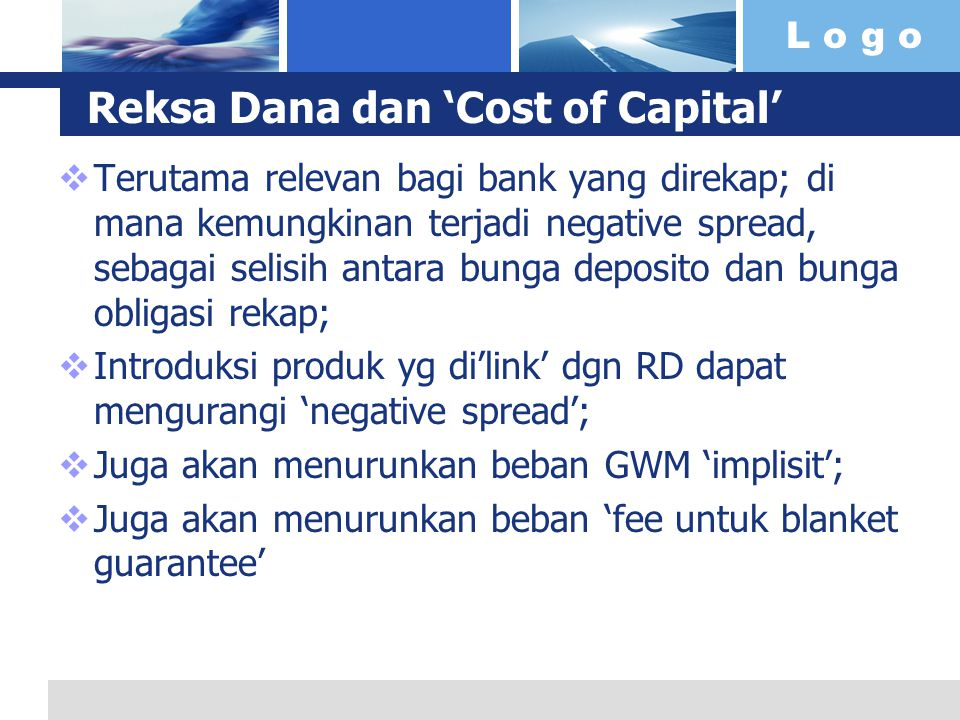 Reksa Dana dan 'Cost of Capital'