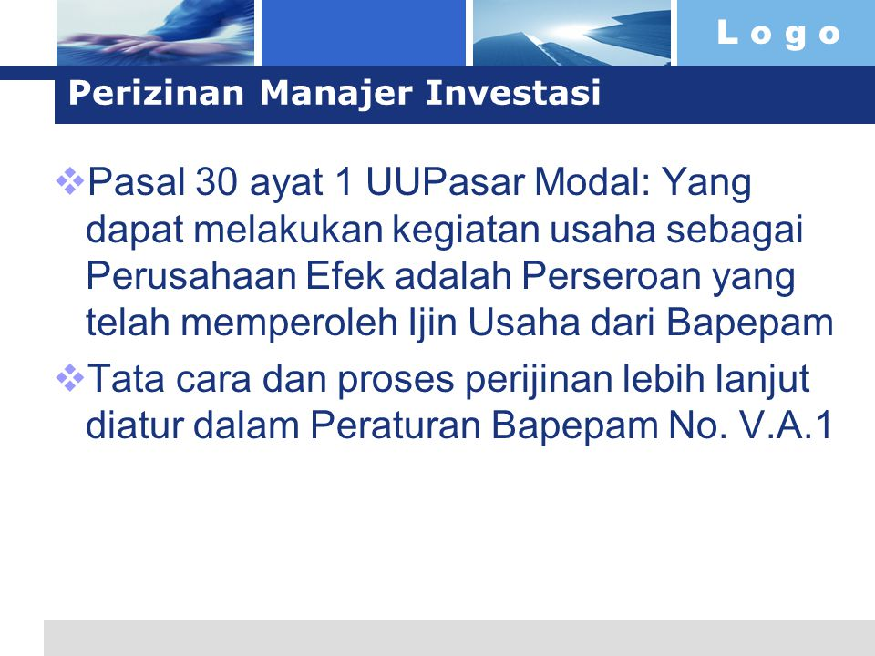Perizinan Manajer Investasi