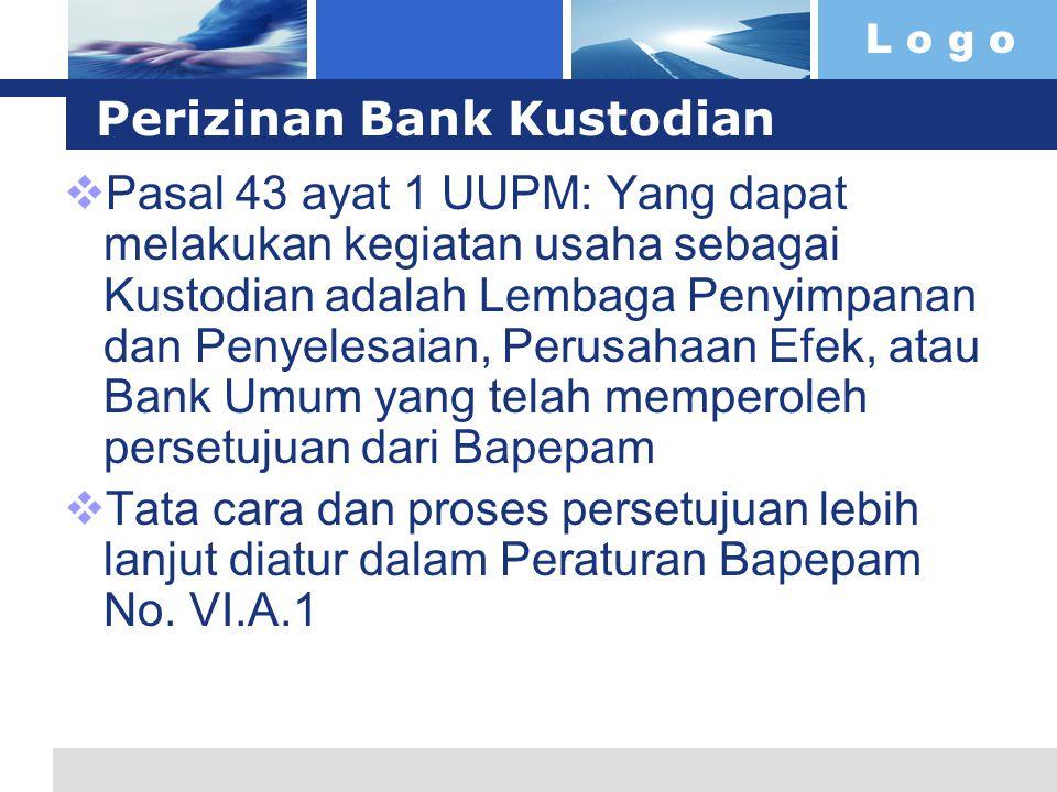 Perizinan Bank Kustodian