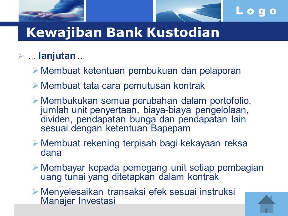 Kewajiban Bank Kustodian