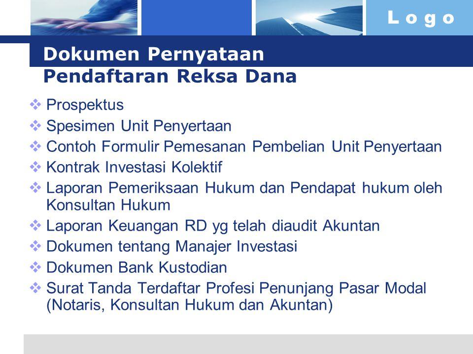 Dokumen Pernyataan Pendaftaran Reksa Dana