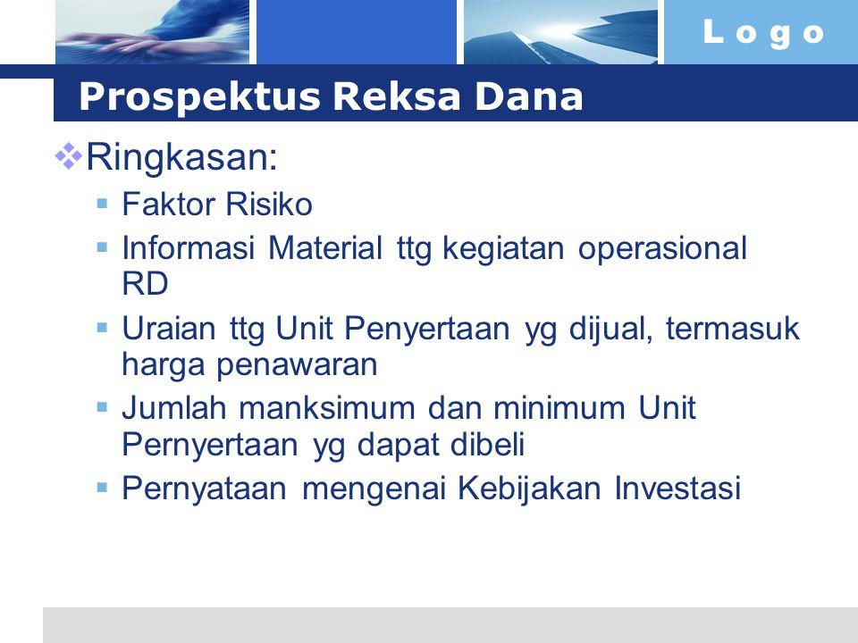 Prospektus Reksa Dana Ringkasan: Faktor Risiko