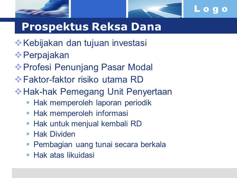 Prospektus Reksa Dana Kebijakan dan tujuan investasi Perpajakan