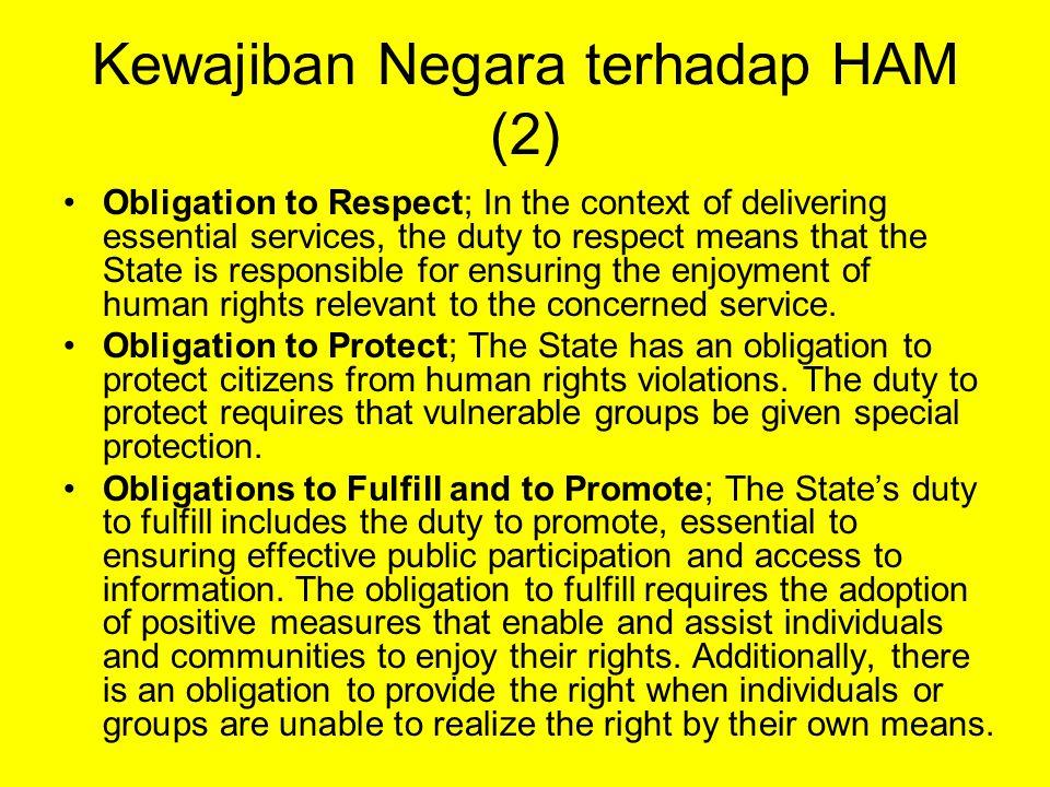 Kewajiban Negara terhadap HAM (2)