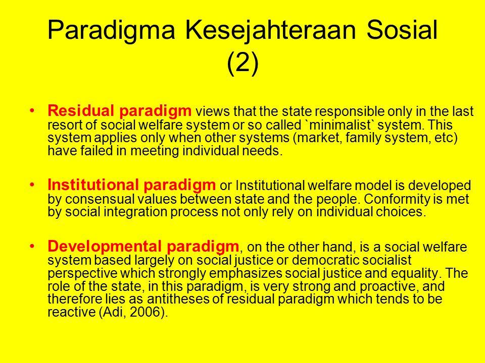 Paradigma Kesejahteraan Sosial (2)