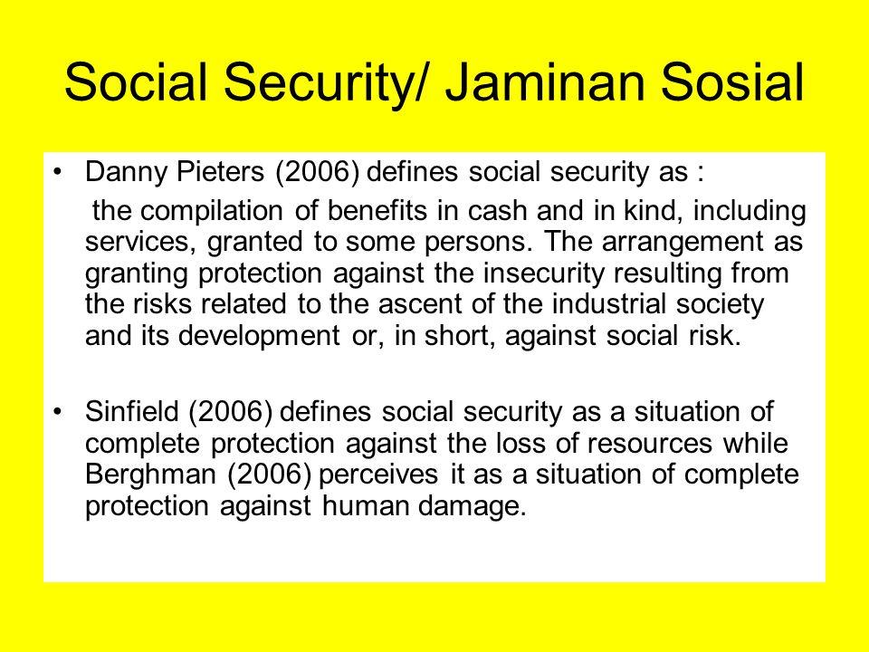Social Security/ Jaminan Sosial