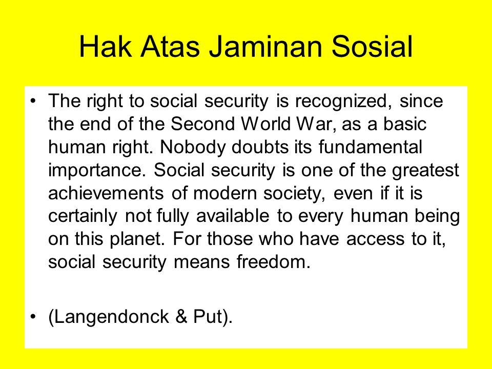 Hak Atas Jaminan Sosial