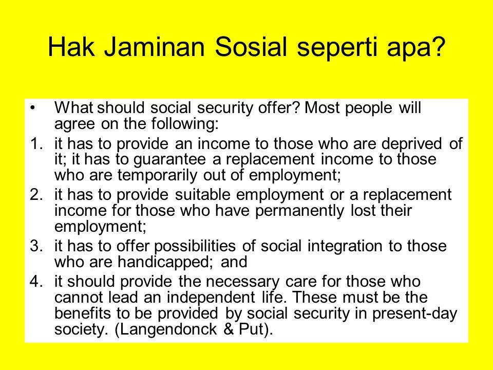 Hak Jaminan Sosial seperti apa