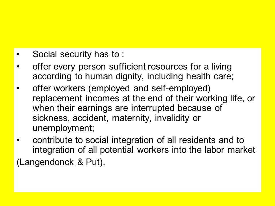 Social security has to :