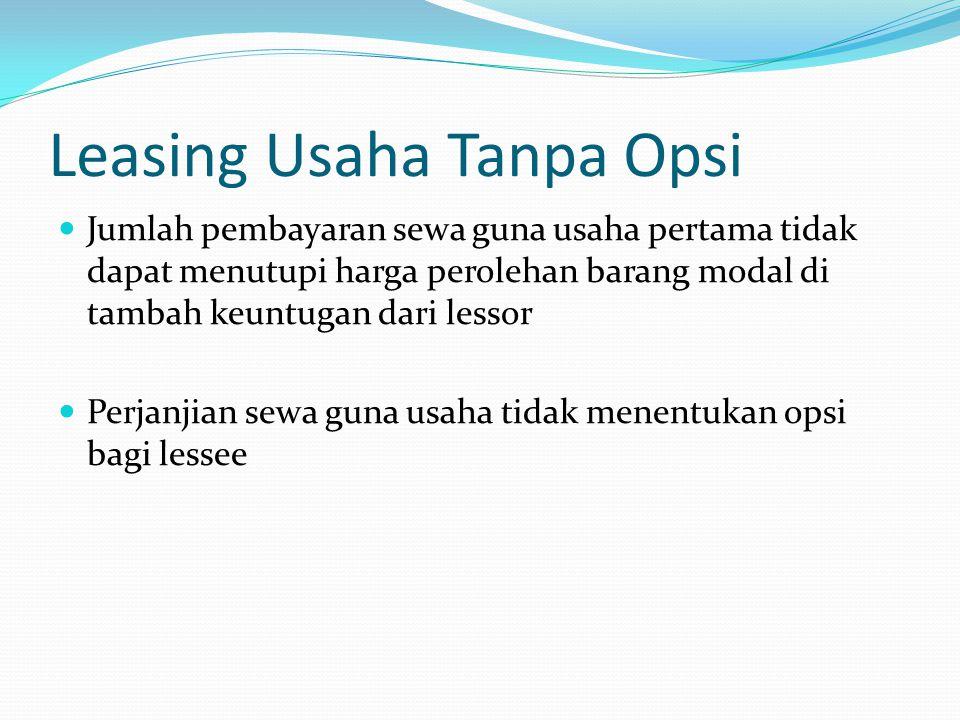 Leasing Usaha Tanpa Opsi