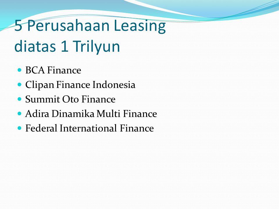 5 Perusahaan Leasing diatas 1 Trilyun