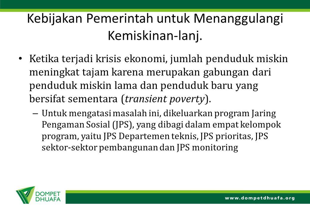 Kebijakan Pemerintah untuk Menanggulangi Kemiskinan-lanj.
