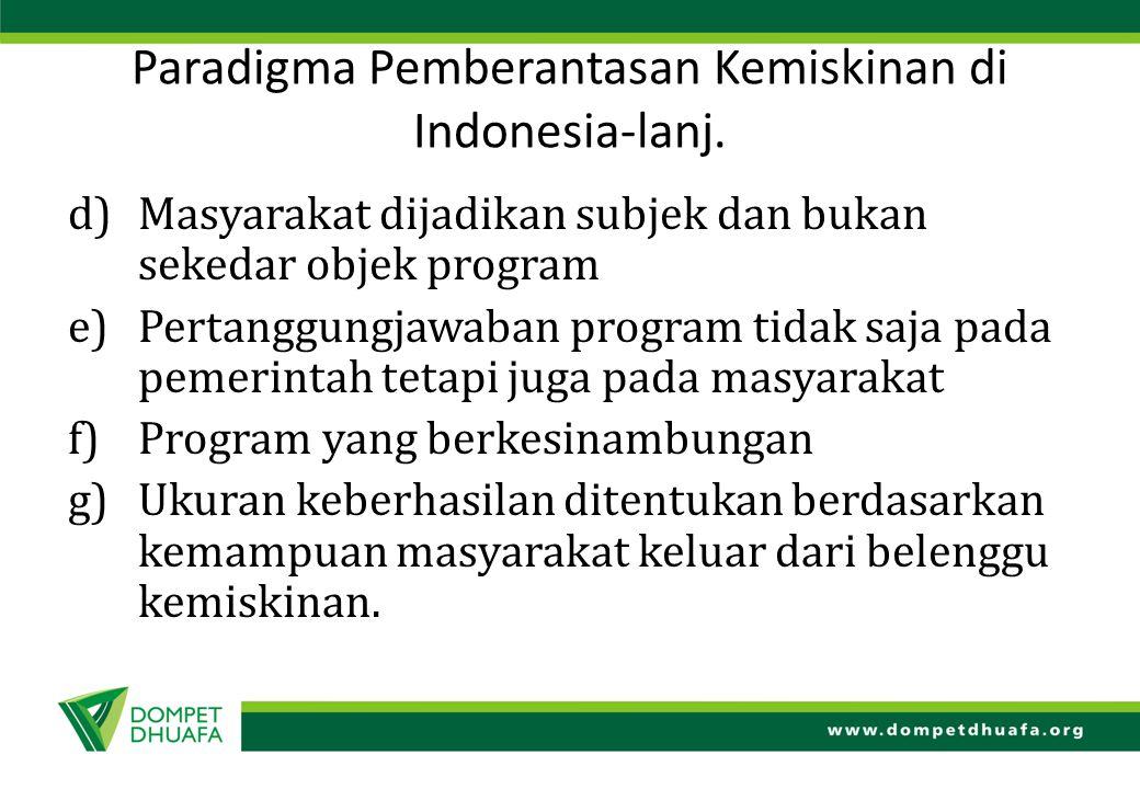 Paradigma Pemberantasan Kemiskinan di Indonesia-lanj.