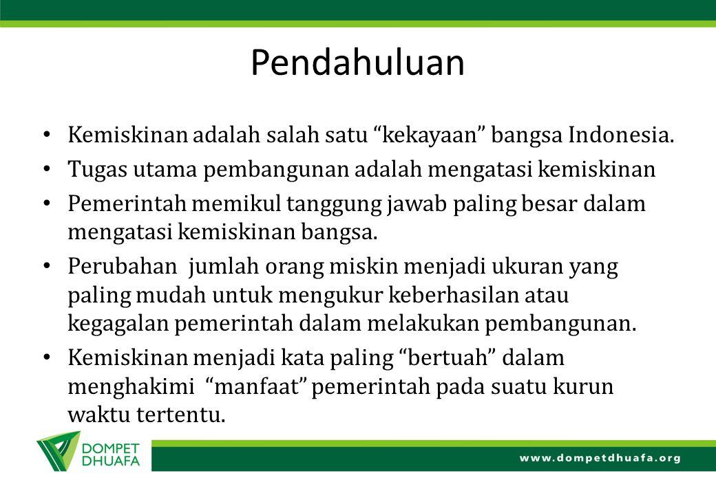 Pendahuluan Kemiskinan adalah salah satu kekayaan bangsa Indonesia.