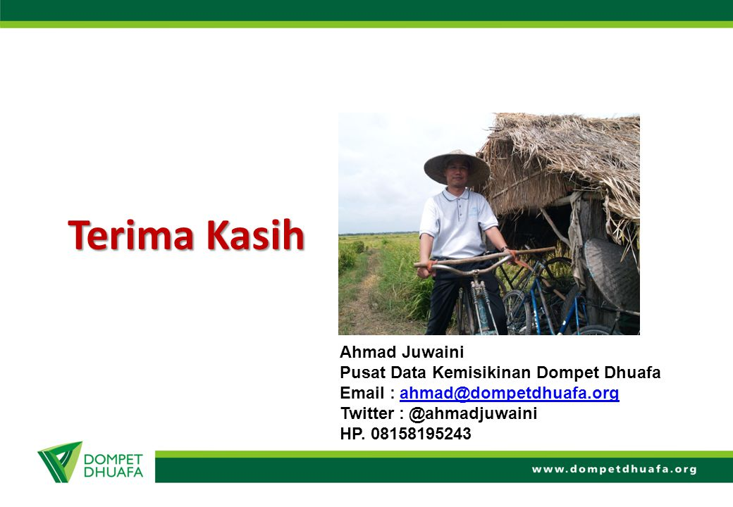 Terima Kasih Ahmad Juwaini Pusat Data Kemisikinan Dompet Dhuafa