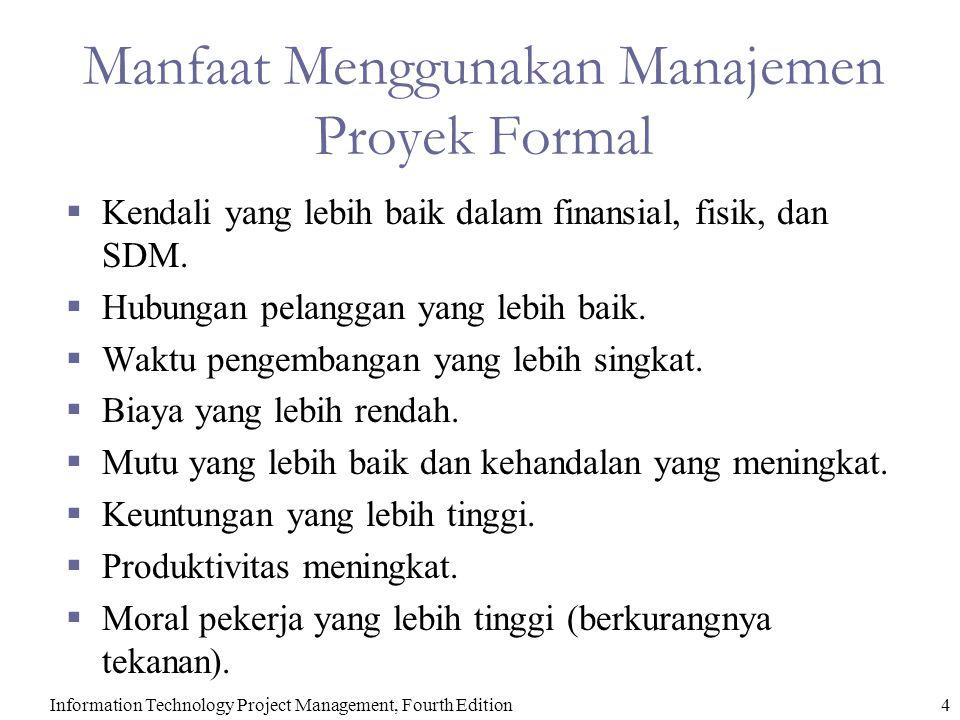 Manfaat Menggunakan Manajemen Proyek Formal