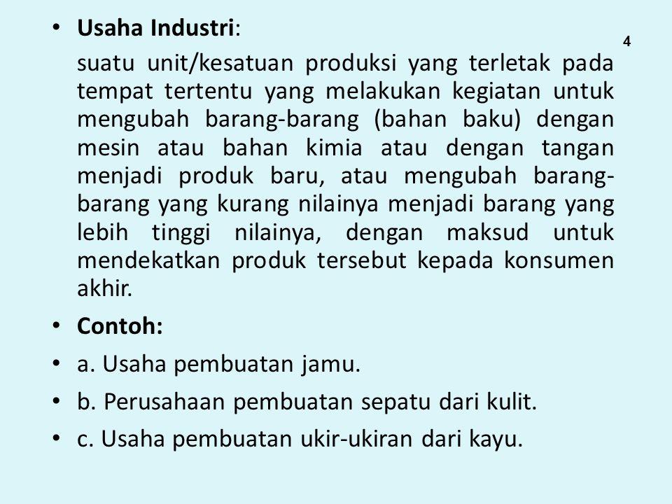 b. Perusahaan pembuatan sepatu dari kulit.