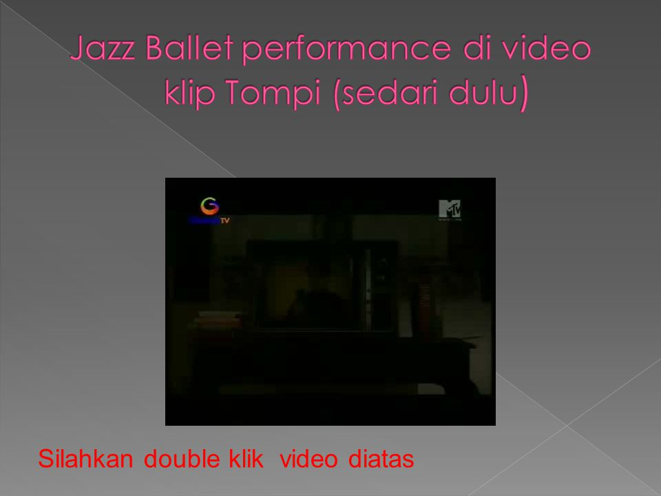 Jazz Ballet performance di video klip Tompi (sedari dulu)