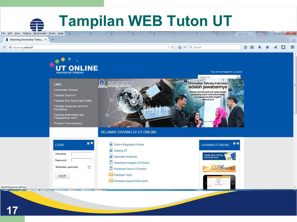 Tampilan WEB Tuton UT