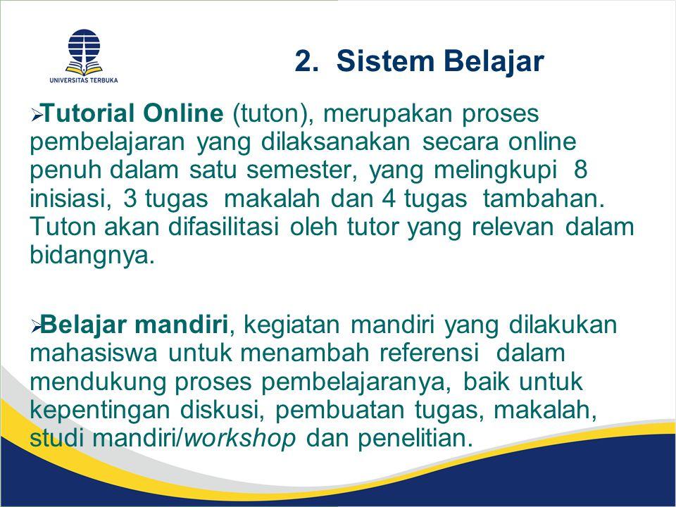 2. Sistem Belajar