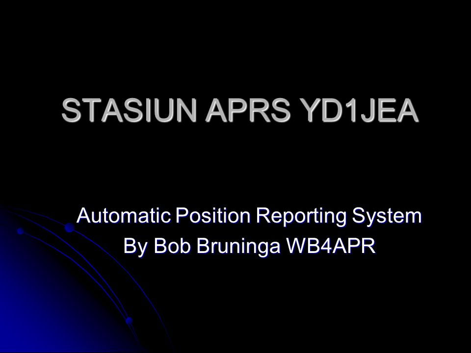 Automatic Position Reporting System By Bob Bruninga WB4APR