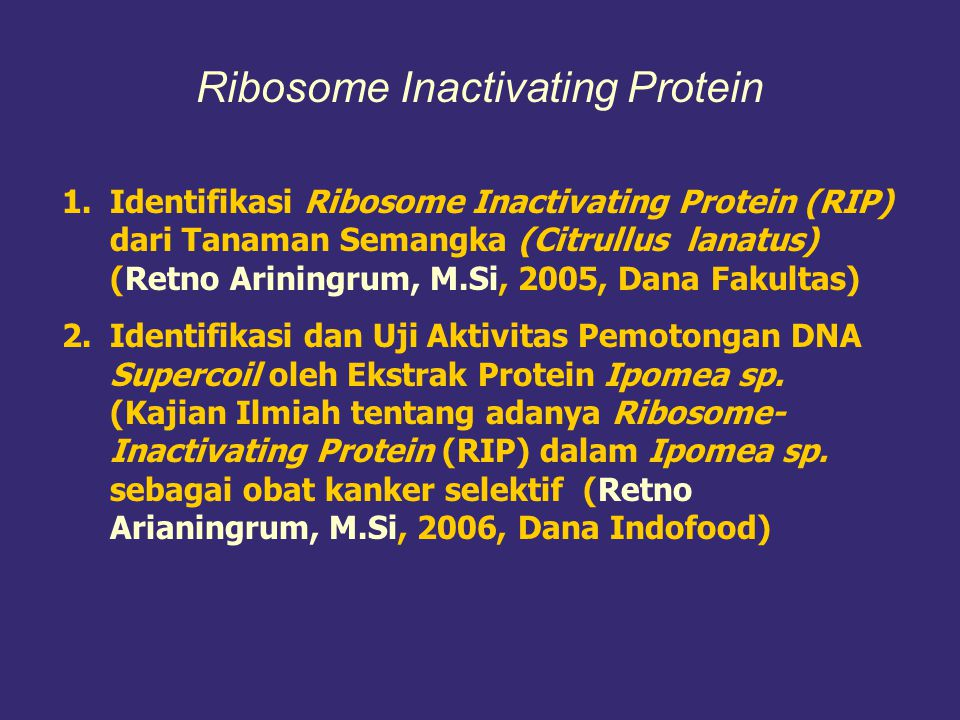 Ribosome Inactivating Protein