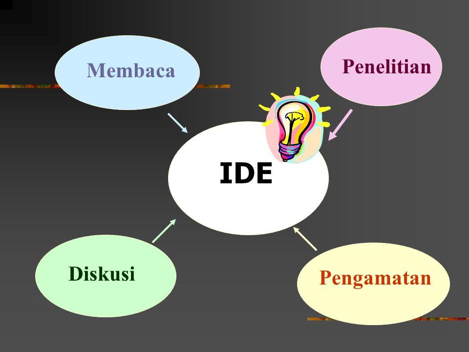 Penelitian Membaca IDE Diskusi Pengamatan