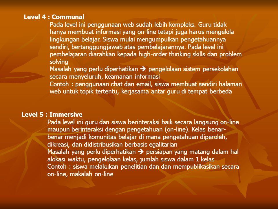Level 4 : Communal