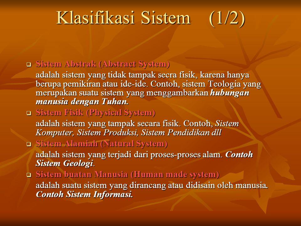 Klasifikasi Sistem (1/2)