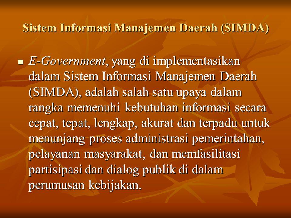 Sistem Informasi Manajemen Daerah (SIMDA)