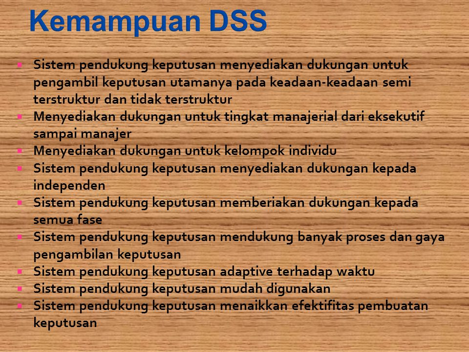 Kemampuan DSS