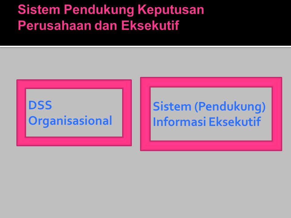 Sistem Pendukung Keputusan Perusahaan dan Eksekutif