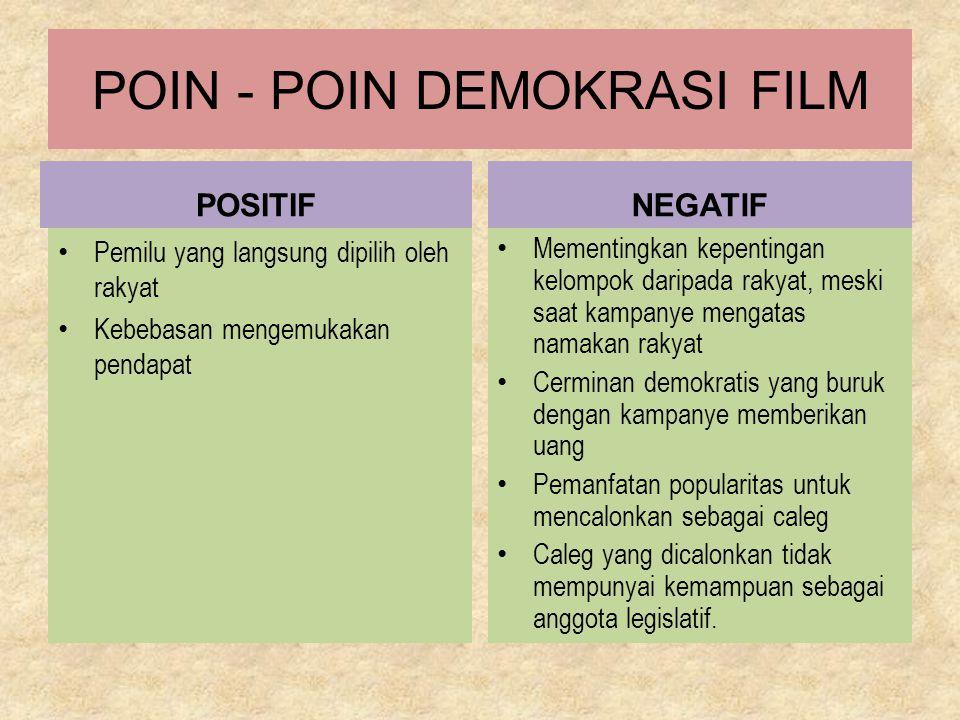 POIN - POIN DEMOKRASI FILM