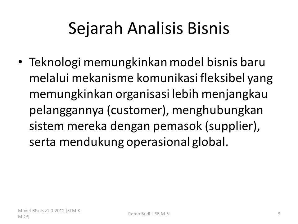Sejarah Analisis Bisnis