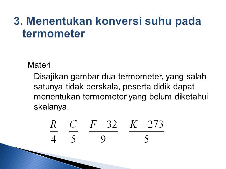 3. Menentukan konversi suhu pada termometer