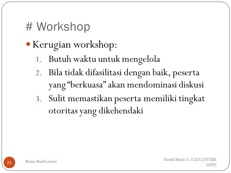 # Workshop Kerugian workshop: Butuh waktu untuk mengelola