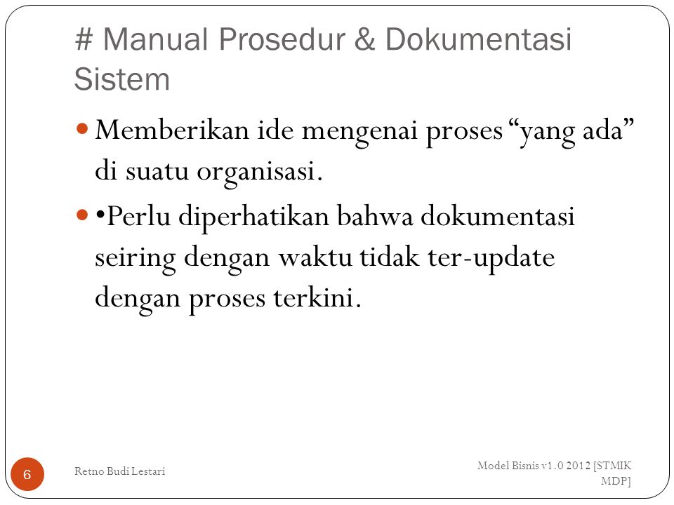 # Manual Prosedur & Dokumentasi Sistem