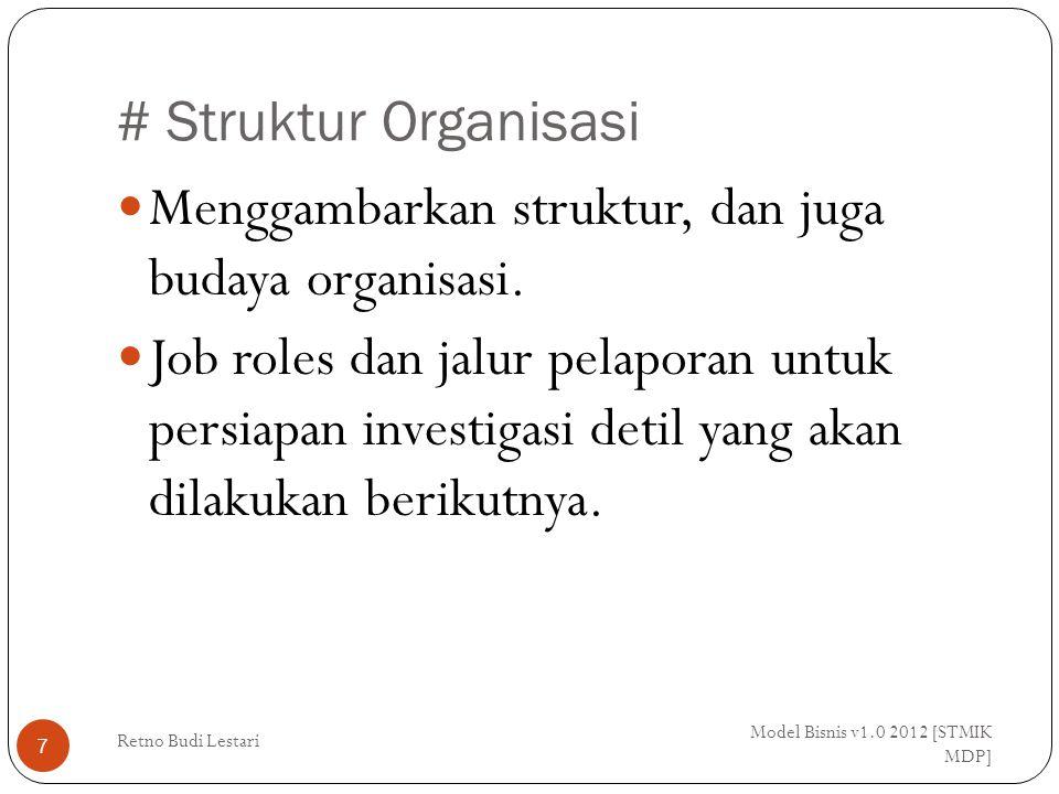Menggambarkan struktur, dan juga budaya organisasi.