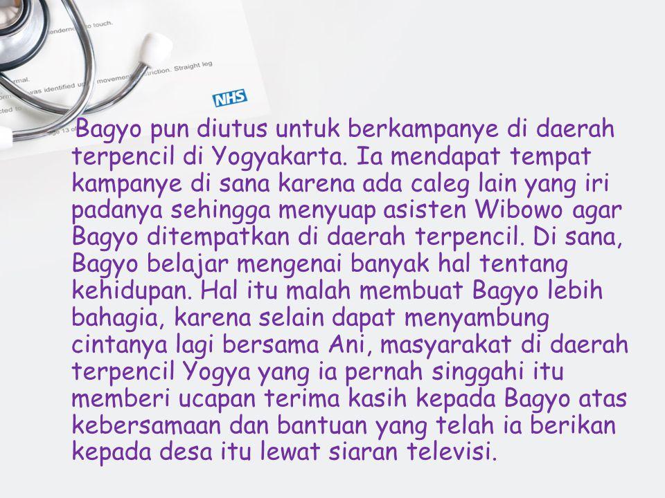 Bagyo pun diutus untuk berkampanye di daerah terpencil di Yogyakarta