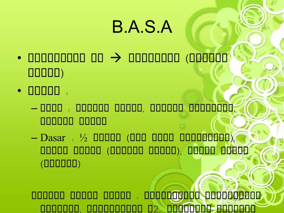 B.A.S.A Pewarnaan HE  kebiruan (tulang rawan) Jenis :