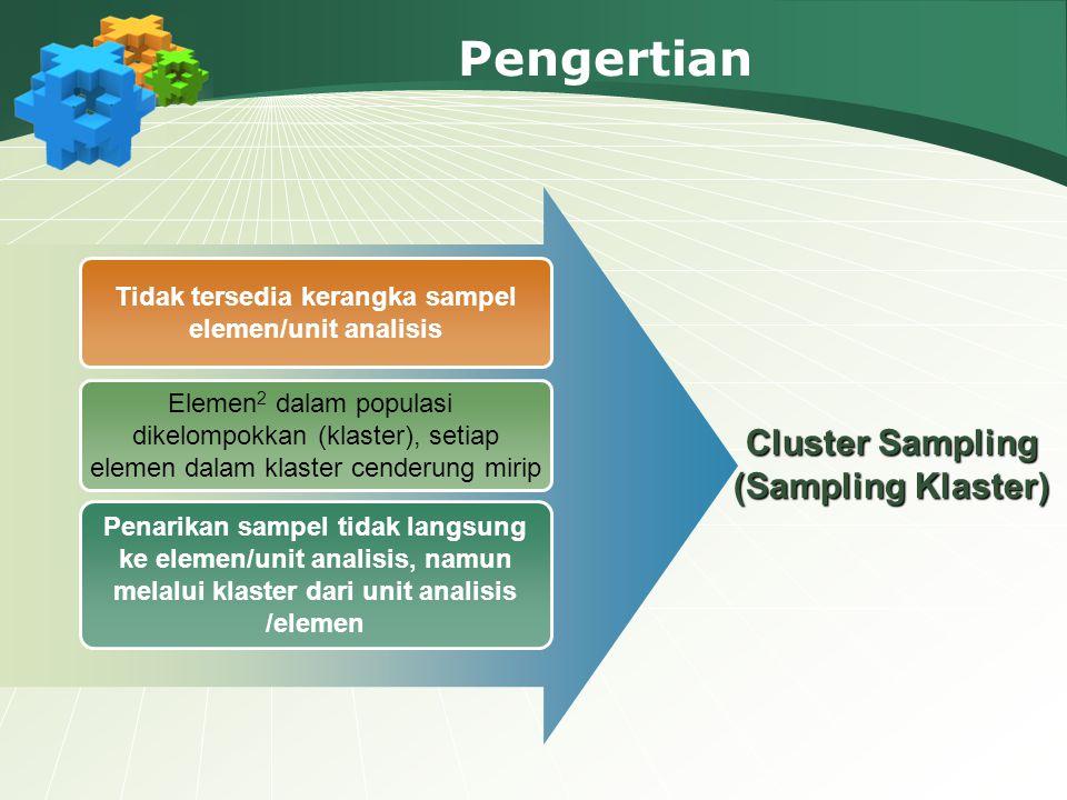 Pengertian Cluster Sampling (Sampling Klaster)