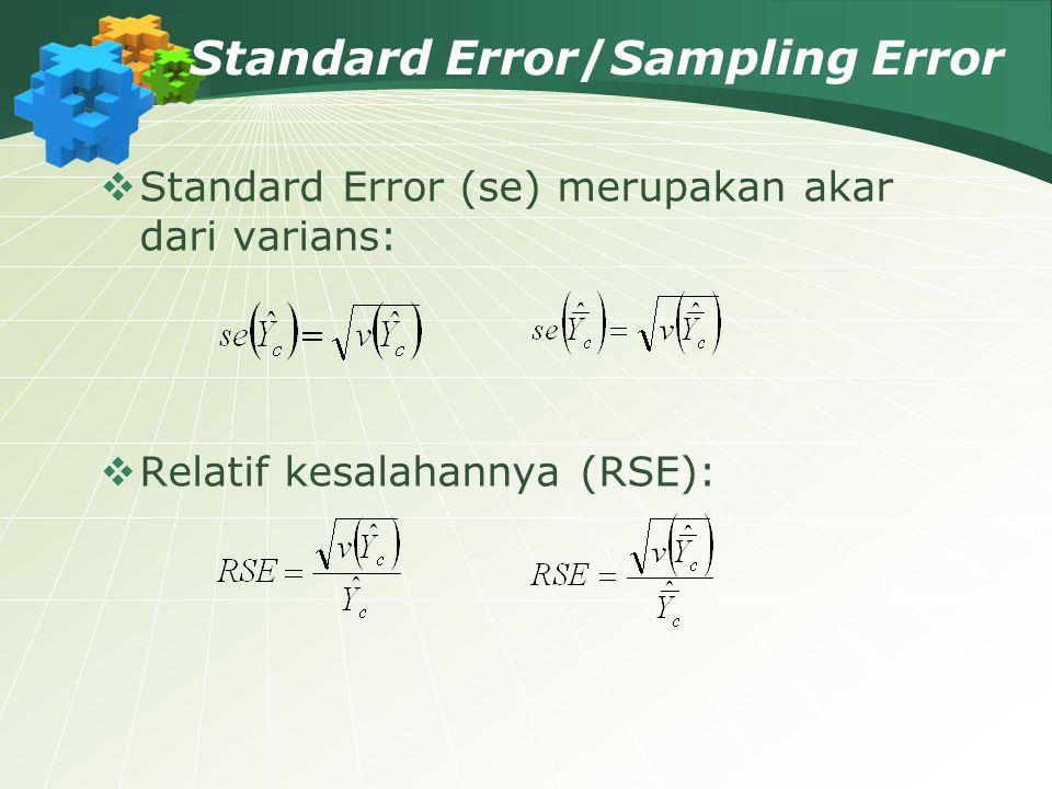 Standard Error/Sampling Error
