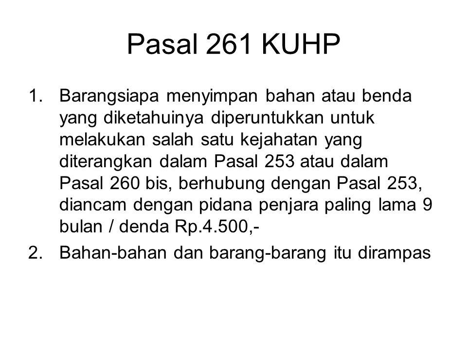 Pasal 261 KUHP