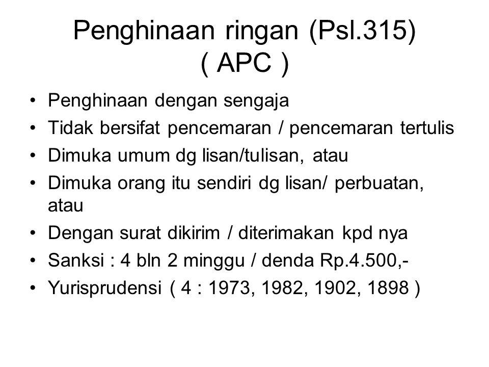 Penghinaan ringan (Psl.315) ( APC )