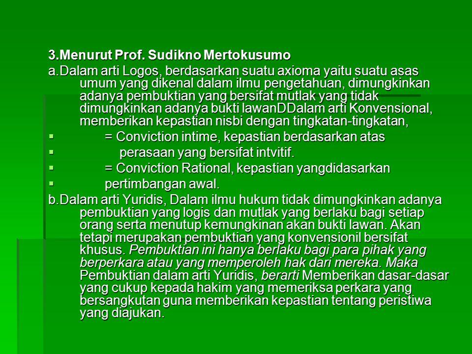 3.Menurut Prof. Sudikno Mertokusumo