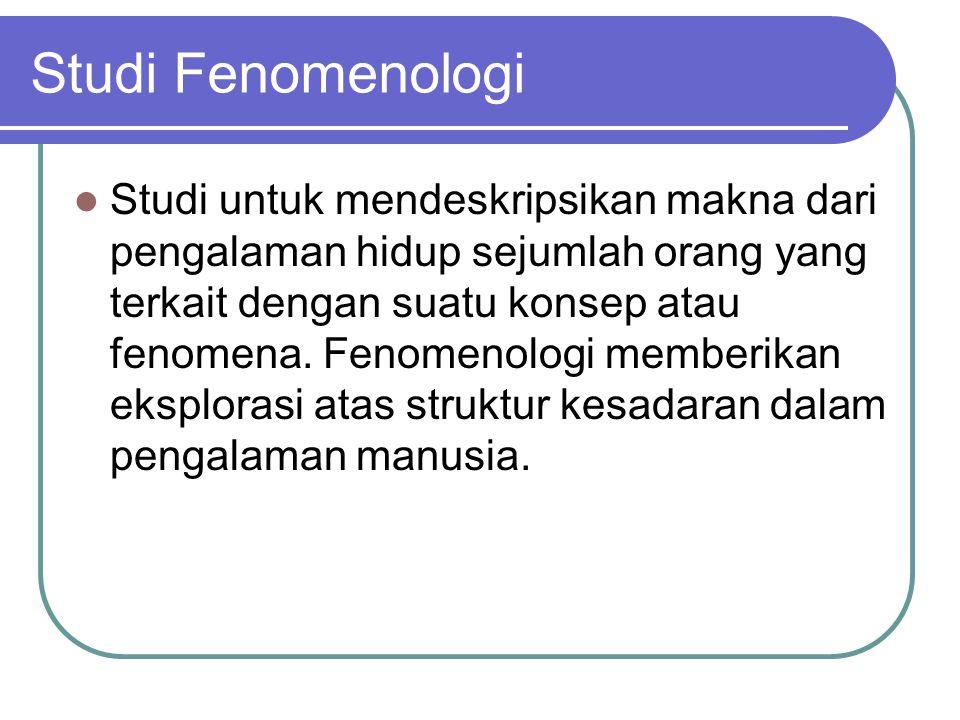 Studi Fenomenologi