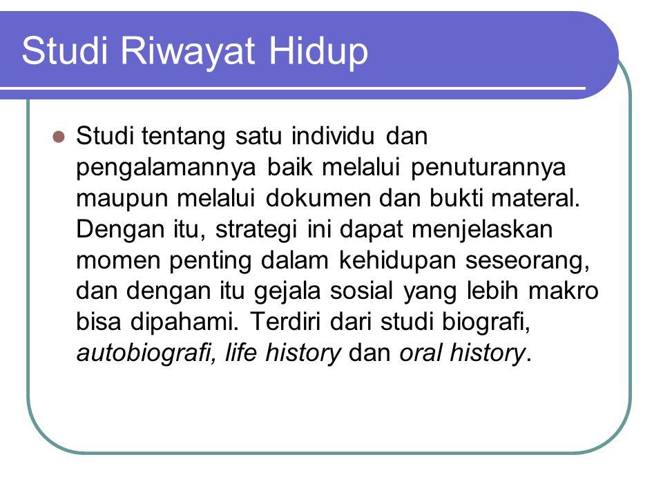 Studi Riwayat Hidup